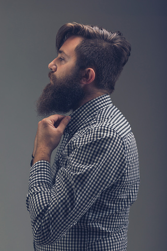 636829368 istock photo Side view portrait of thinking stylish young man which sets the 991924218