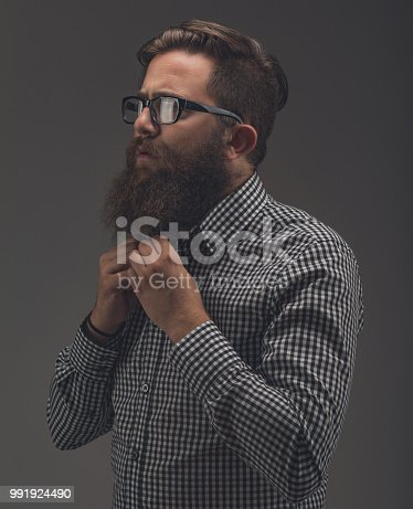 636829368istockphoto Side view portrait of thinking stylish young man which sets the 991924490