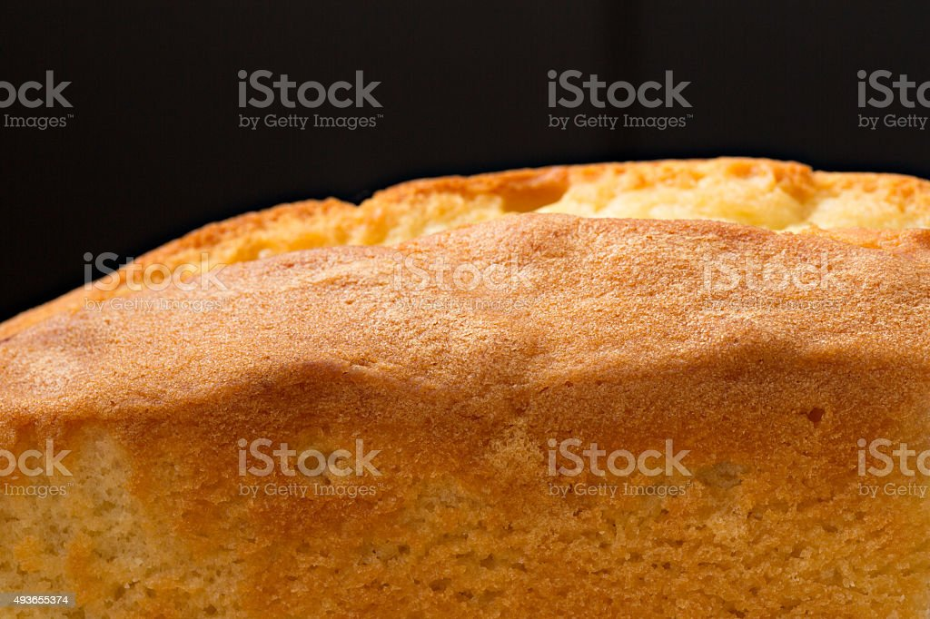 Vista lateral de bolo - foto de acervo