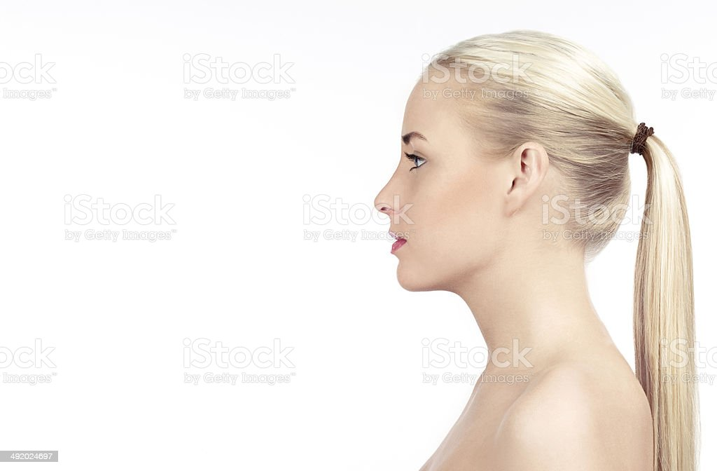 Side View Woman Face Stock Photo - Download Image Now