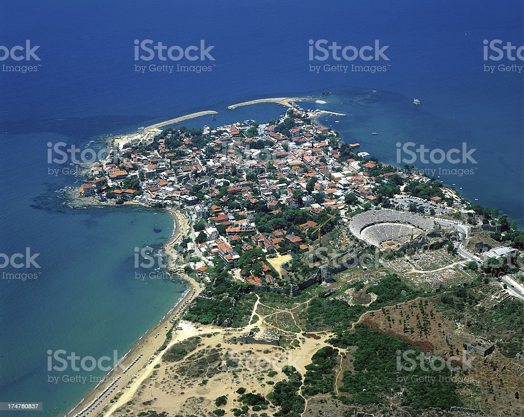 side village in Antalya,Turkey stock photo