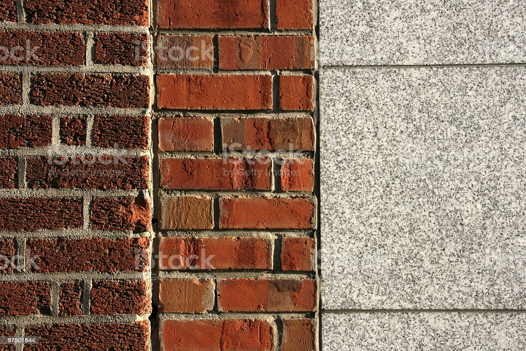 Side-by-side photographs of different wall textures royalty-free stock photo