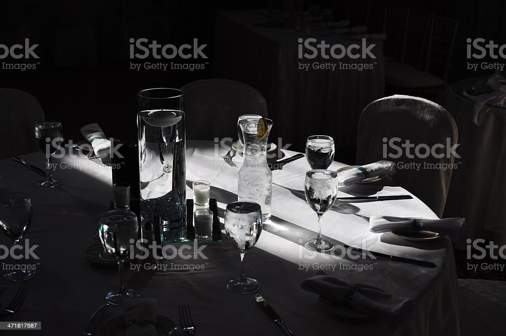 Sidelight of Formal Table Setting royalty-free stock photo