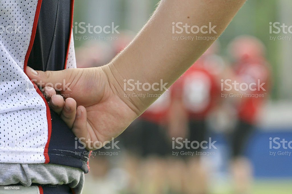 sideline football player royalty-free stock photo