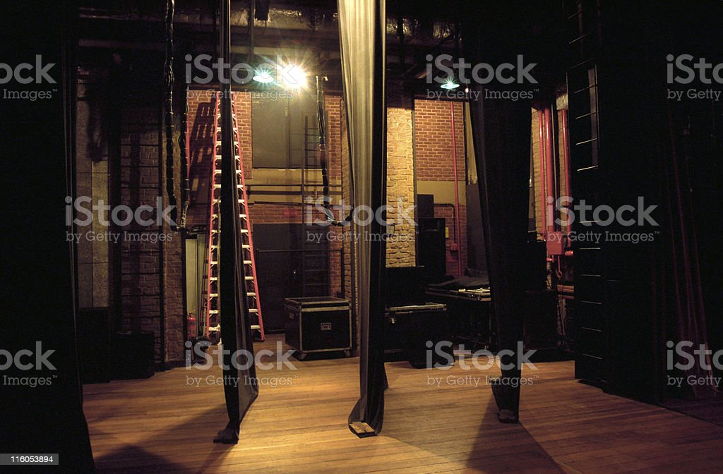 Side-scenes of a theatre stock photo