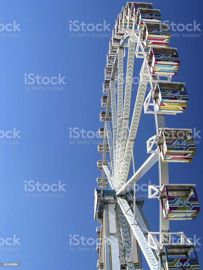 Sideview of the Giant Wheel royalty-free stock photo