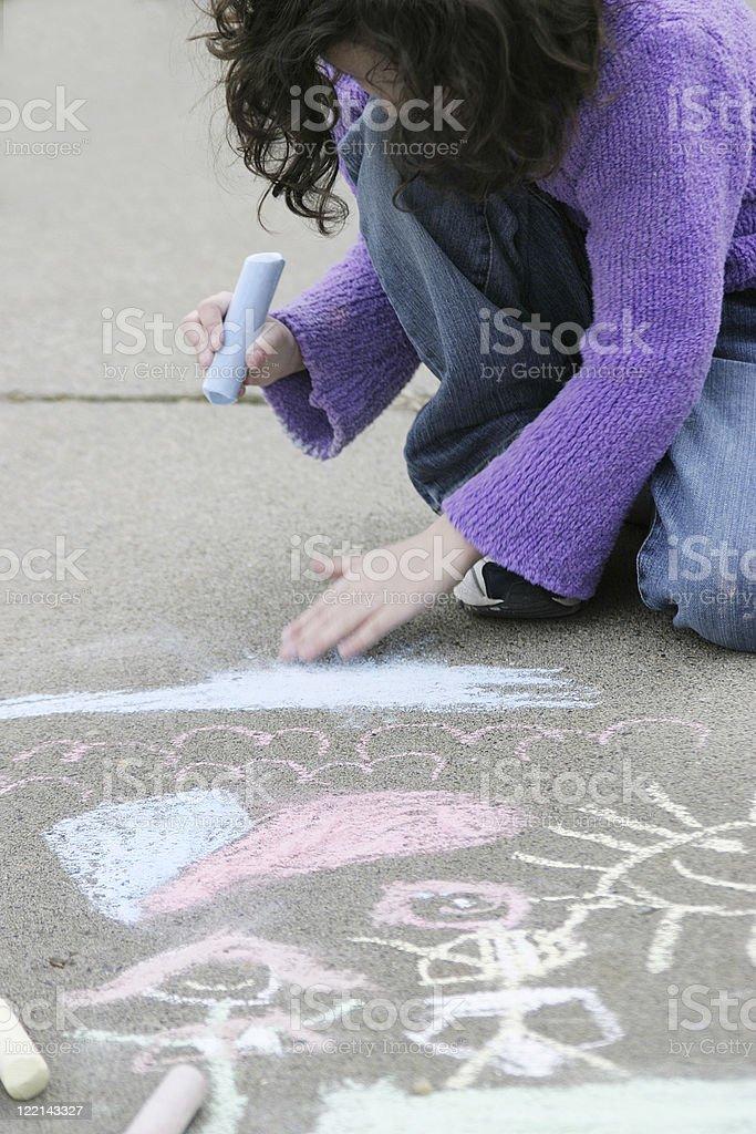 Sidewalk Art royalty-free stock photo