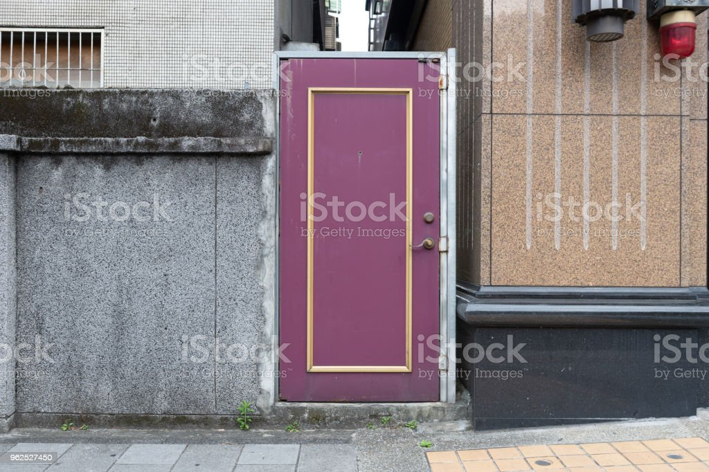 sidewalk by street wall & door - Royalty-free Architecture Stock Photo