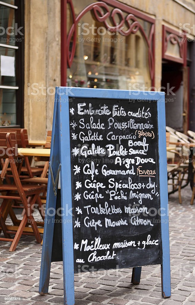 menu de café avec terrasse - Photo