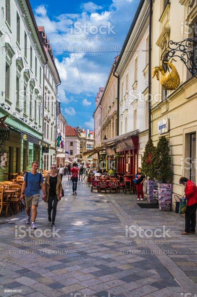 Sidewalk Cafes stock photo