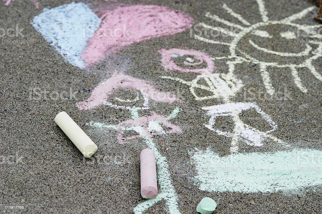 Sidewalk Chalk Art royalty-free stock photo