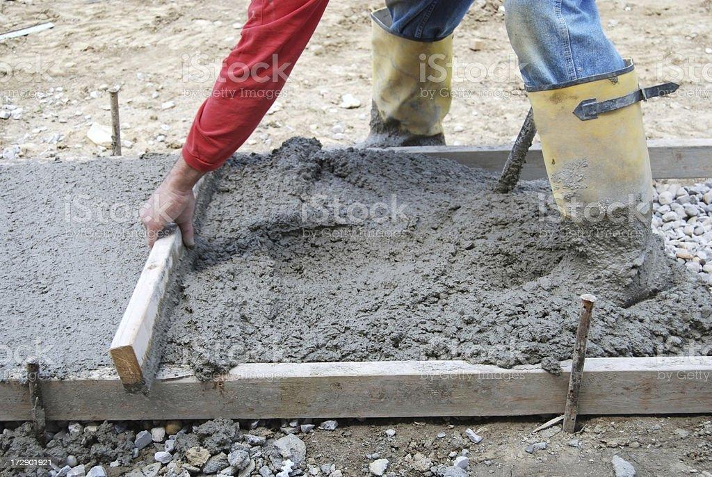 Sidewalk Construction royalty-free stock photo