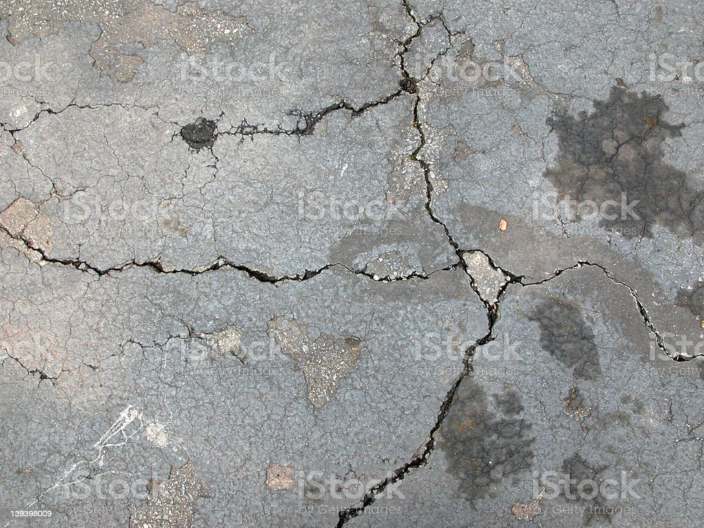 Sidewalk Cracks royalty-free stock photo