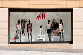 Beirut, Lebanon - September 19, 2010: A sidewalk display window at an H&M store in downtown Beirut. H&M has some 2500 stores worldwide.