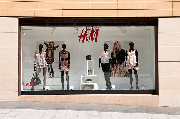 h&m display window in beirut, lebanon - store window stock pictures, royalty-free photos & images