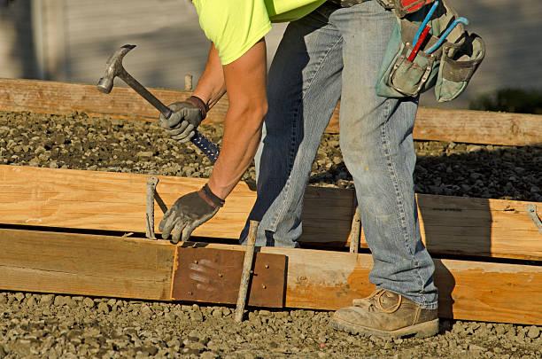 Sidewalk Forms stock photo
