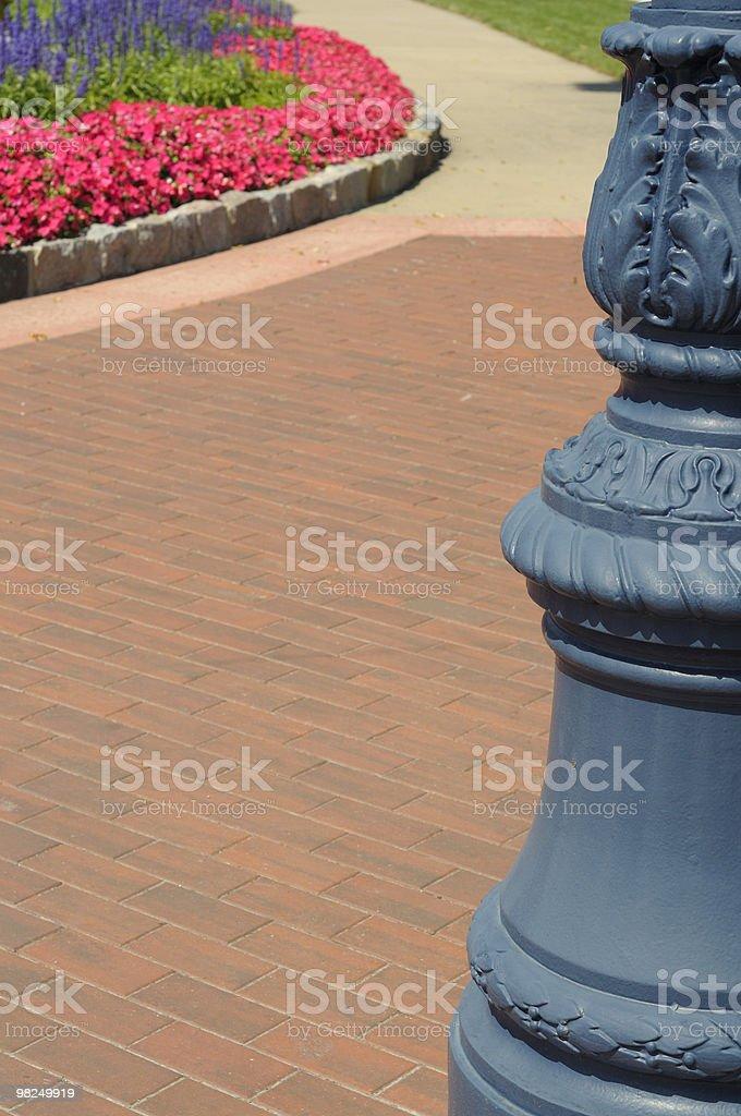 Sidewalk, Frankenmuth, Michigan royalty-free stock photo