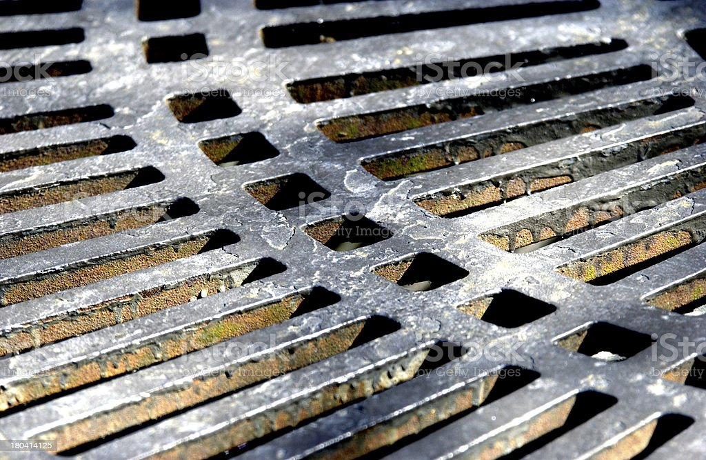Sidewalk grate stock photo