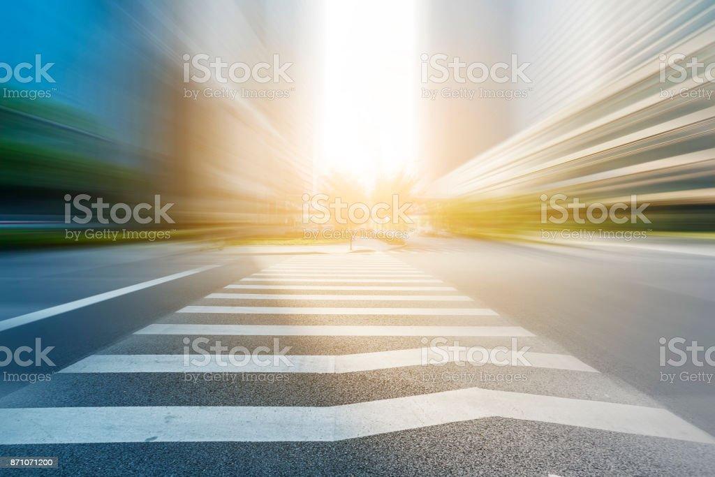 Sidewalk of urban road stock photo