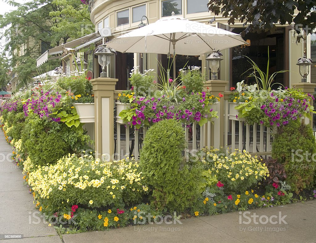 Sidewalk Patio royalty-free stock photo