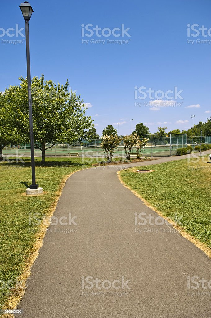 Sidewalk royalty-free stock photo