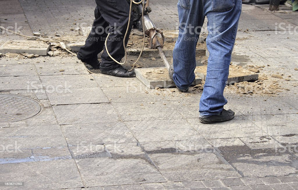 Sidewalk Repair stock photo