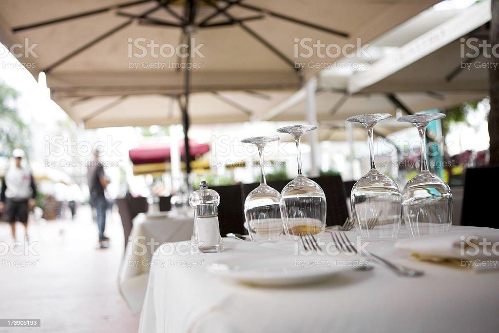 Sidewalk Restaurant royalty-free stock photo