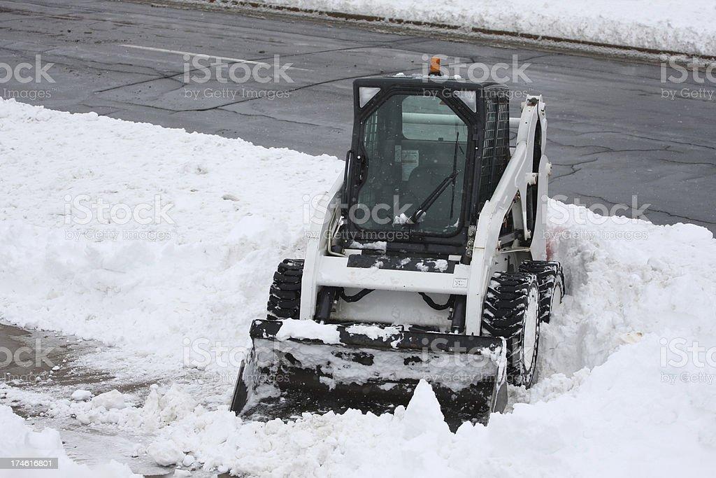 Sidewalk Snow Removal, Series royalty-free stock photo