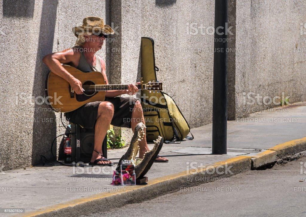 Sidewalk Soloist stock photo