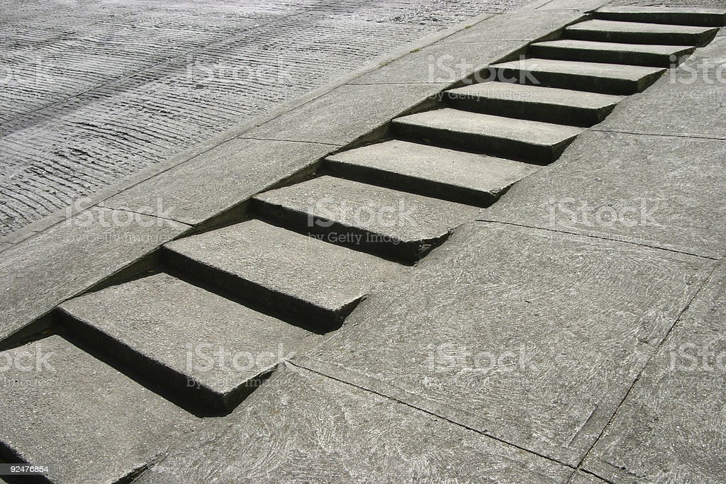 Sidewalk Stairs royalty-free stock photo