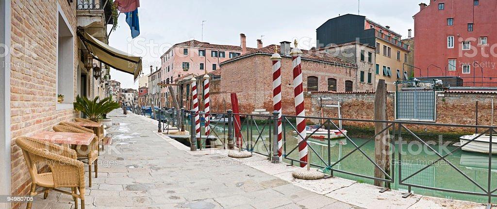 Sidewalk stripes Venice royalty-free stock photo