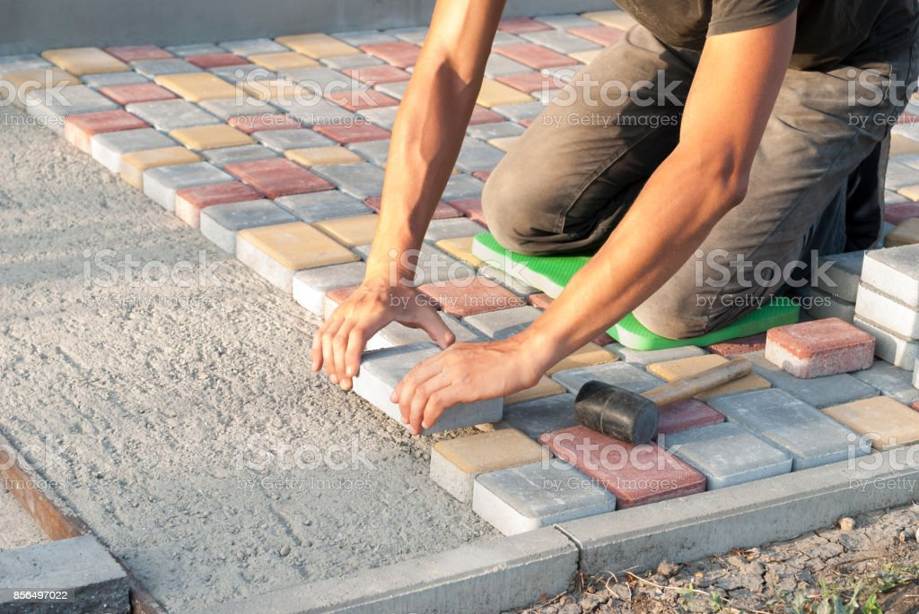 sidewalk tiles stock photo