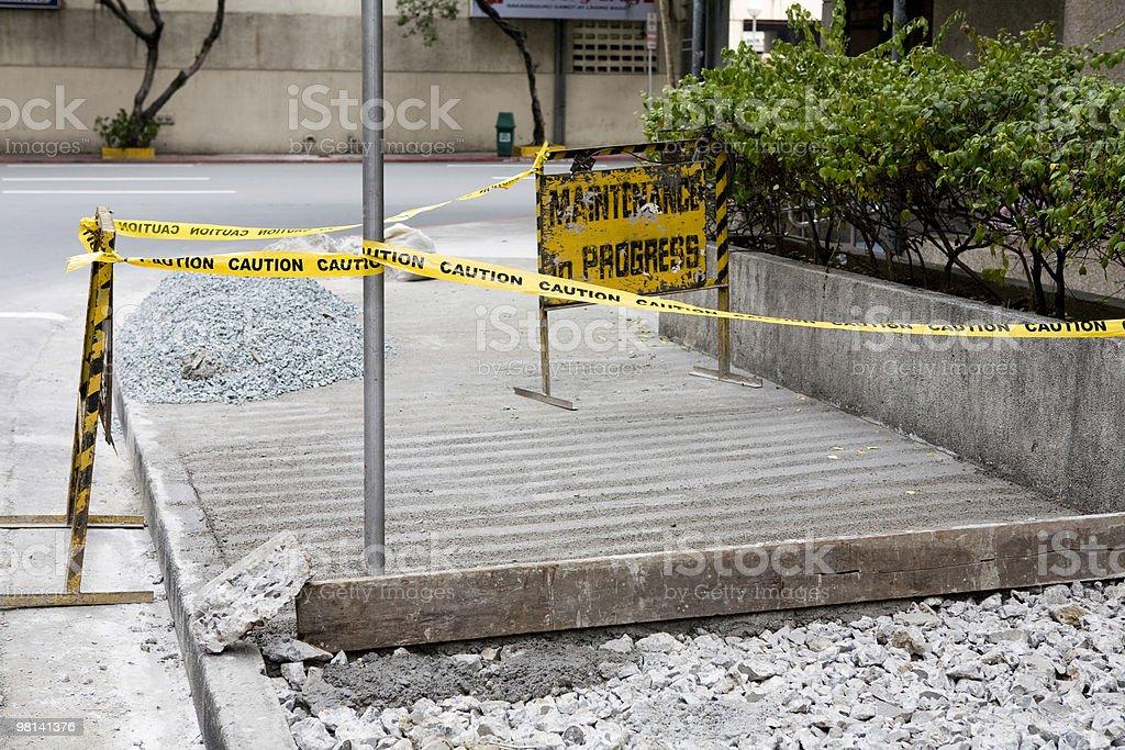 Sidewalk under repair royalty-free stock photo