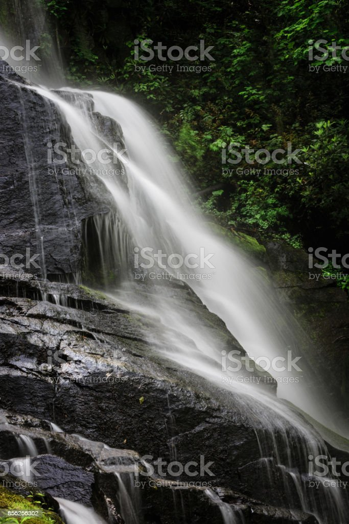 Sideways look at Estatoe Falls stock photo