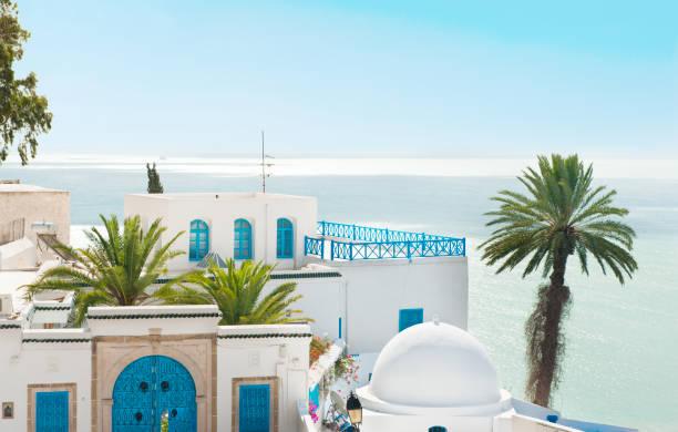 sidi bou said - urlaub in tunesien stock-fotos und bilder