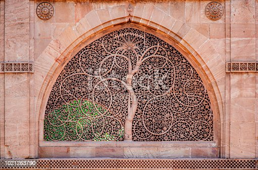 The Sidi Saiyyed Mosque, popularly known as Sidi Saiyyid ni Jali locally, built in 1572 AD, is one of the most famous mosques of Ahmedabad, Gujarat, India.