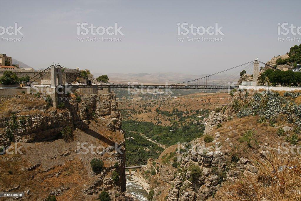 Sidi-M'Cid suspension bridge in Constantine, Algeria - Photo
