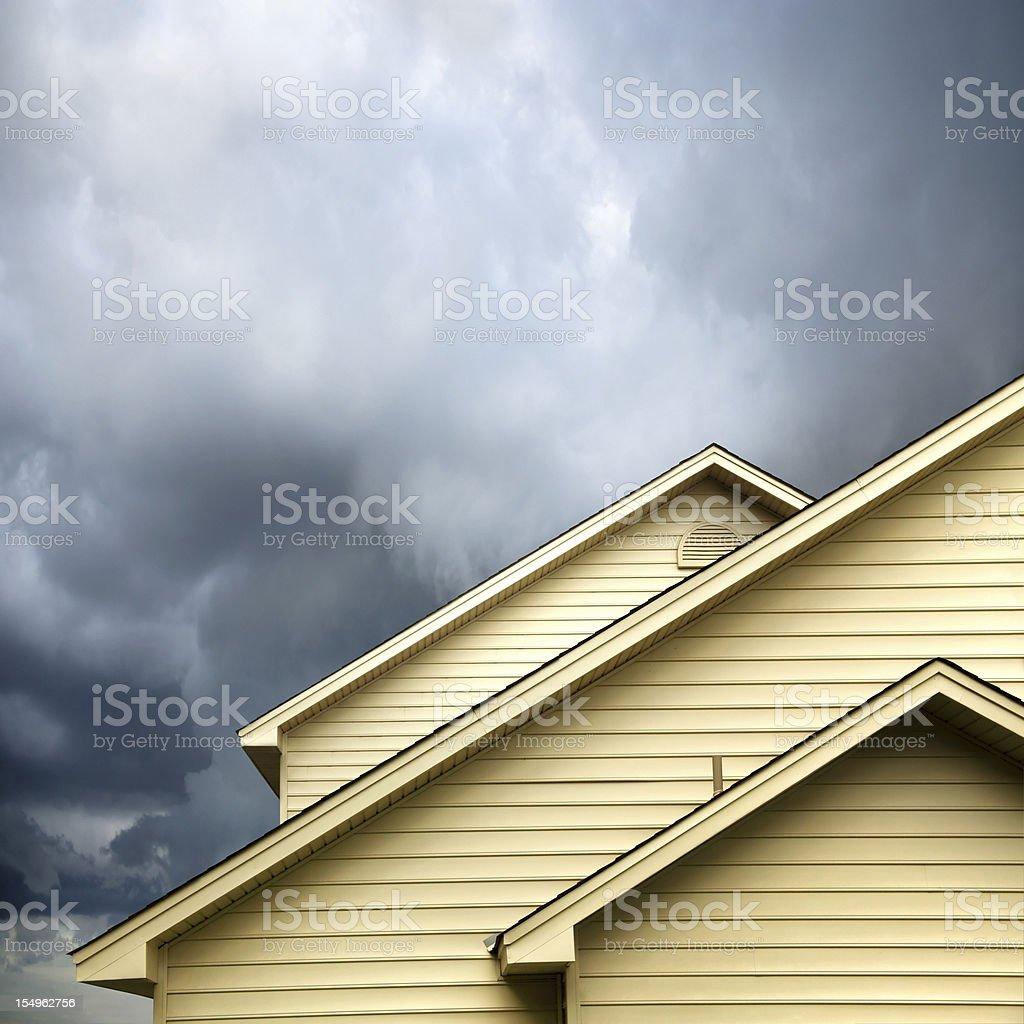 siding house under storm stock photo