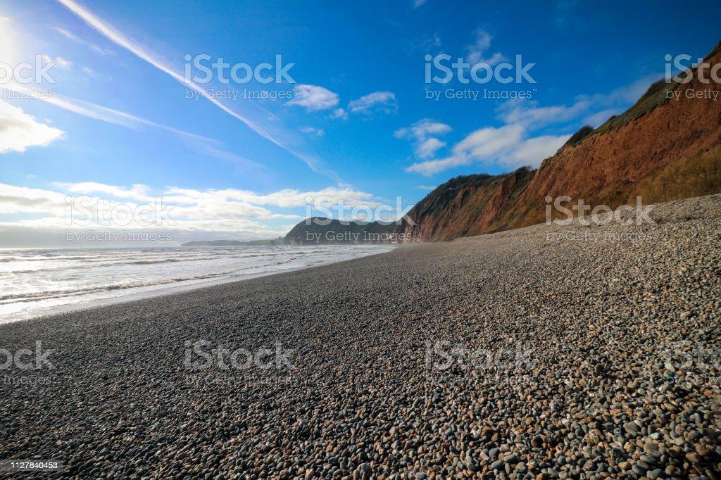 Sidmouth Beach, Devon stock photo