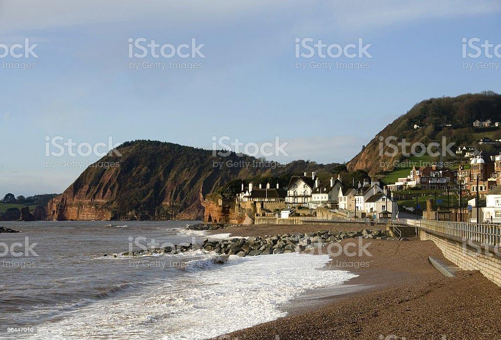 Sidmouth Beach, England stock photo