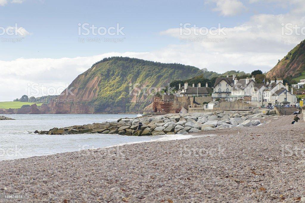 Sidmouth Beach stock photo