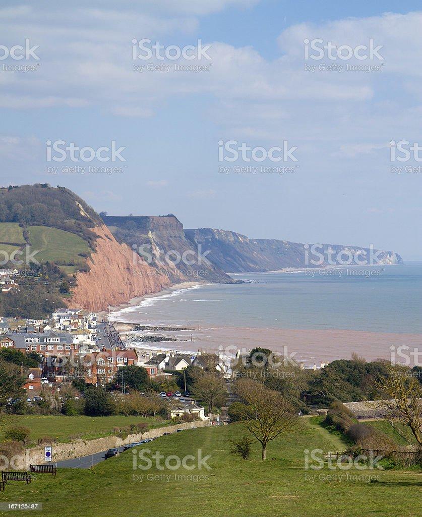 Sidmouth coast East Devon England stock photo