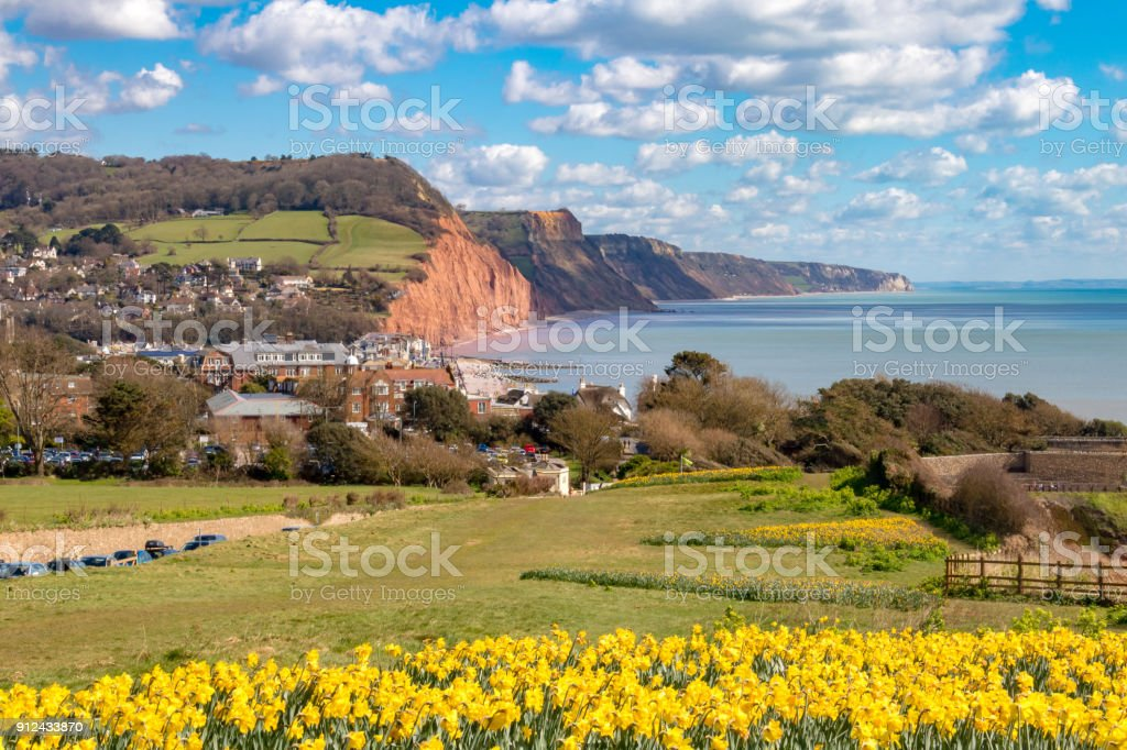 Sidmouth, Dorset, England stock photo