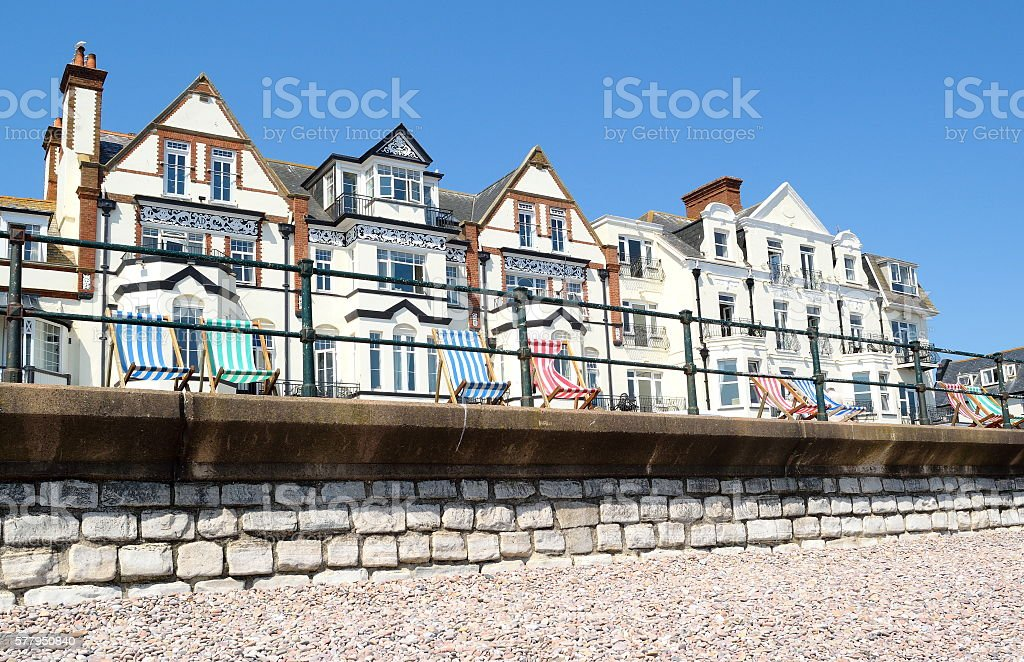 Sidmouth esplanade stock photo