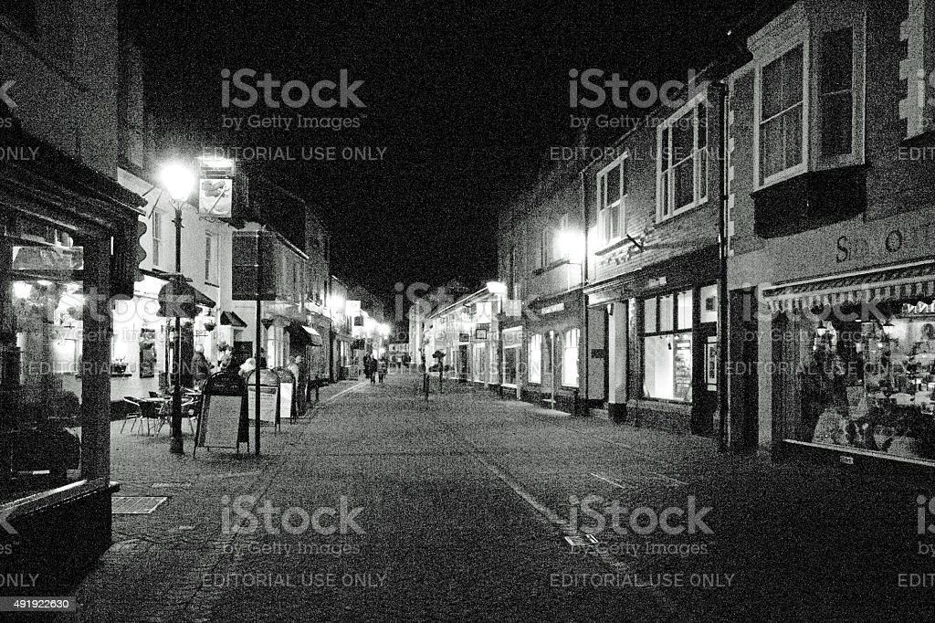 Sidmouth High Street stock photo