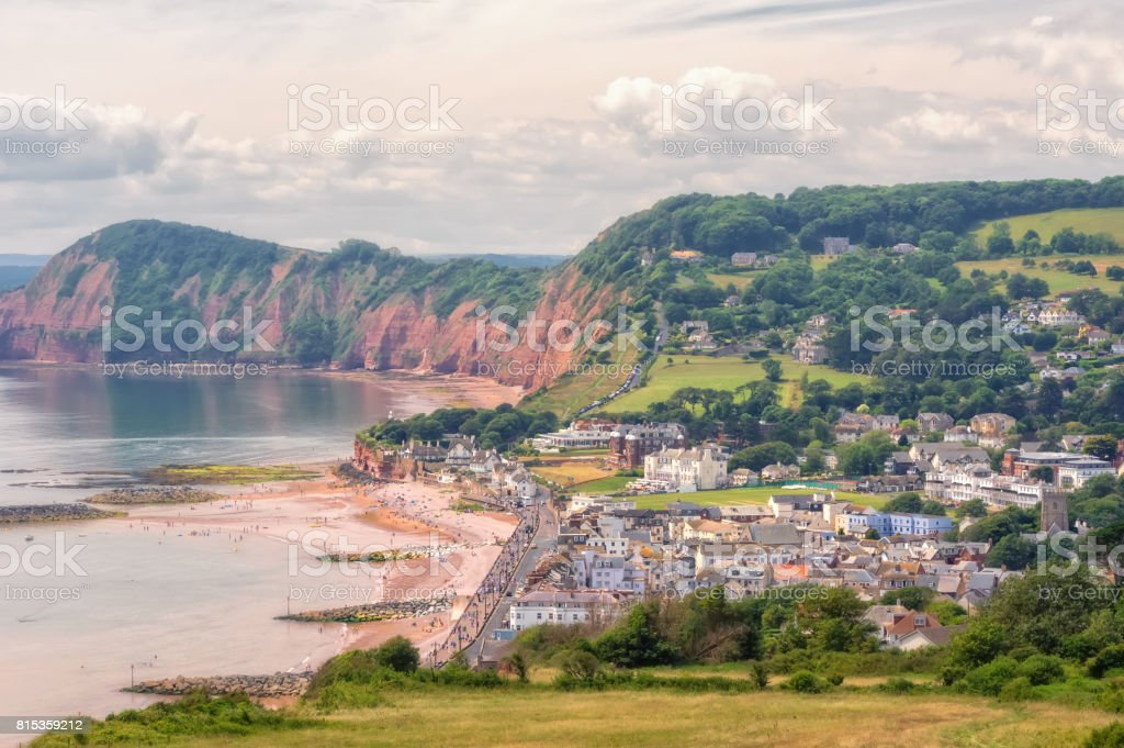Sidmouth. stock photo