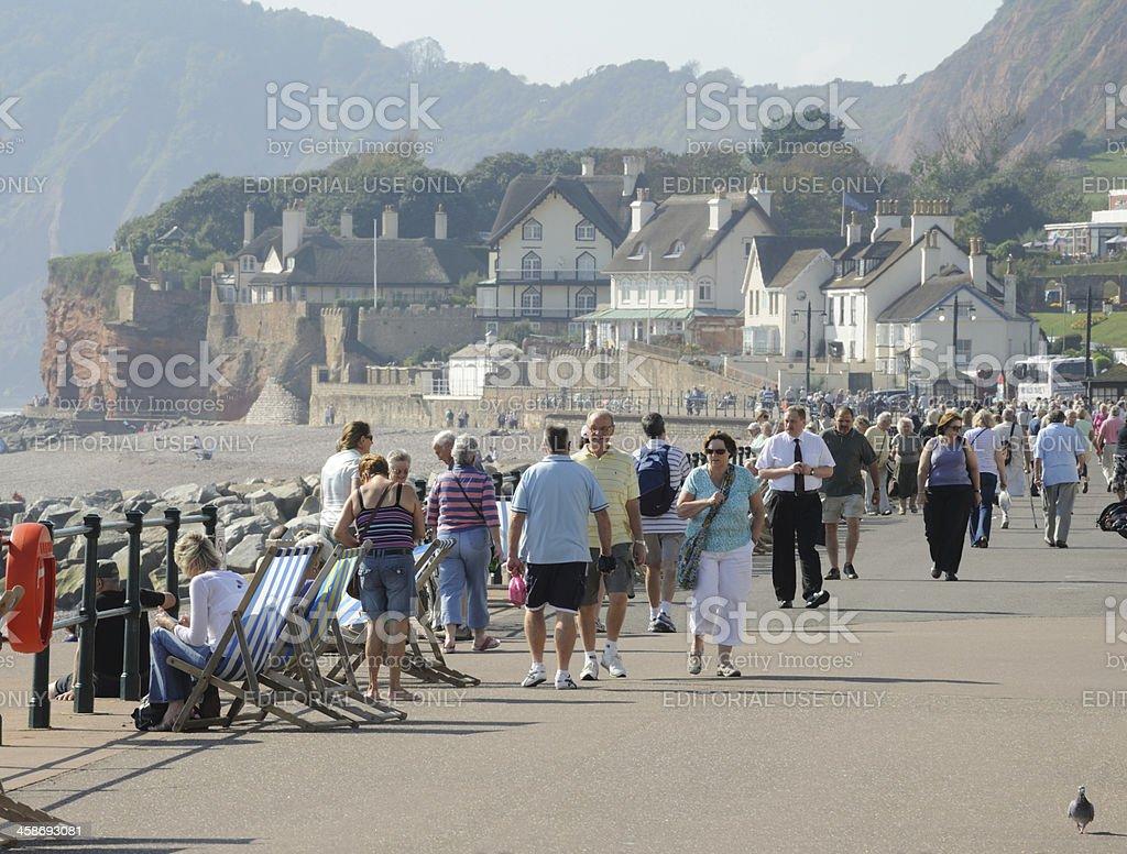 Sidmouth Promenade stock photo