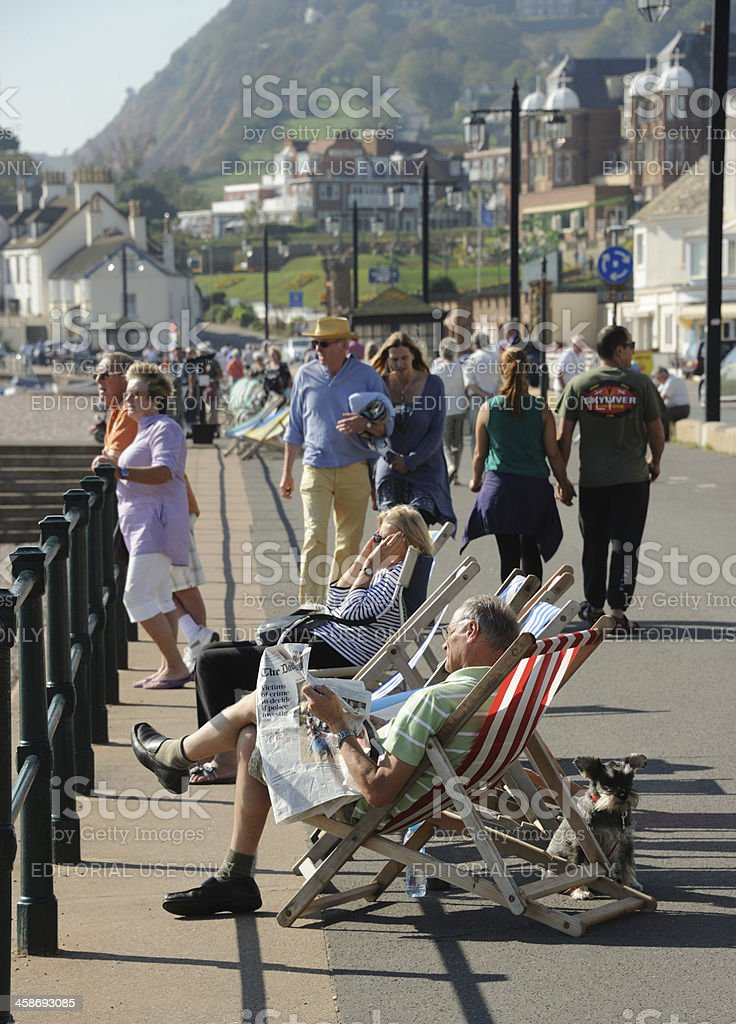 Sidmouth Promenade royalty-free stock photo
