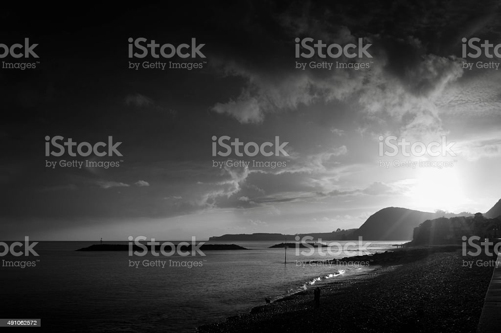 Sidmouth seafront stock photo