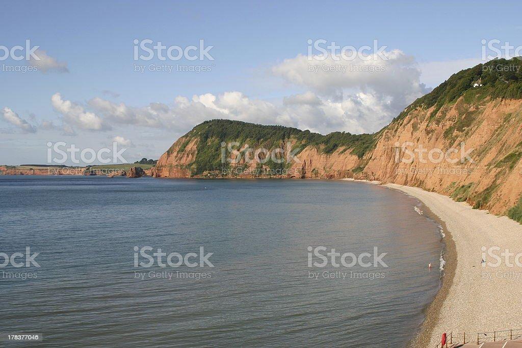 Sidmouths Stunning Cliffs stock photo